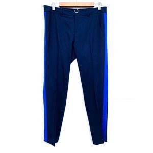 Vince Navy Blue Stripe Wool Suit Business Pants